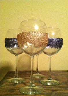 The Sasse Life: Glitter Wine Glasses