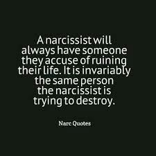 """A narcissist will always have someone they accuse of """"ruining their life."""" It is invariably the same person the narcissist is trying to destroy. Narcissistic People, Narcissistic Mother, Narcissistic Behavior, Narcissistic Sociopath, Narcissistic Personality Disorder, Abusive Relationship, Toxic Relationships, Emotional Abuse, The Victim"""