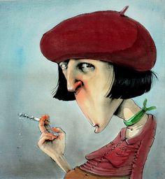 made by: Lisa Aisato Fun Illustration, Graphic Design Illustration, Smoke Art, Abstract Portrait, Art World, Art Inspo, Illustrators, Watercolor Paintings, Fantasy Art