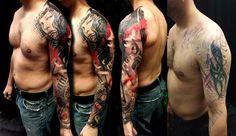 Trash Polka Cover Up tattoo design
