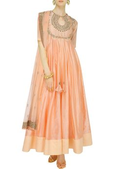 Peach anarkali - what do you think of this for the mehndi?