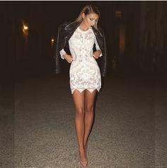 desi perkins outfit-lace dress