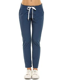 New Trending Pants: Meaneor Womens Lightweight Woterproof Casual Sports Pants, Blue, Small. Meaneor Womens Lightweight Woterproof Casual Sports Pants, Blue, Small  Special Offer: $22.99  300 Reviews LIGHTWEIGHT  WATERPROOF – Durable and breathable pants is suitable for most outdoor activities like hiking,camping,climbing etc.Slim – Slim fit and casual design...