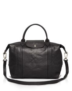 144f9dd768836 Longchamp Le Pliage Cuir Medium Satchel Taschen