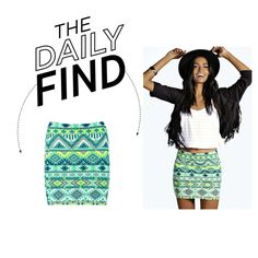 Daily Find: Boohoo Aztec Mini Skirt