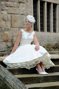 Unforgettable Tea-Length Wedding Dresses; ; Reubens from Forget-me-not Designs