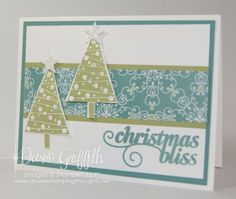 Christmas Bliss card with Dawn