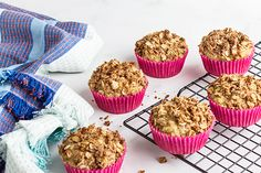 If you are a muffin lover, you need to try this recipe! It's the perfect 'comfort' food and makes a great snack to take to work or school. If you are looking for more muffin recipes to add to your collection, you need to try these banana muffins! Ingredients (makes 6 muffins): 150g wholemeal plain flour 1 tsp baking powder ½ tsp ground cinnamon ¼ tsp sea salt 1 medium red apple, grated 2 tbsp coconut oil, melted 2 tbsp maple syrup 1 egg 125ml low-fat milk ½ tsp vanilla extract Crumble: 2 ...