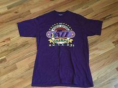 1989 Vintage Midwest Division CHAMPS UTAH JAZZ MEN'S T-SHIRT SIZE XL