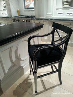 Black, classic chair