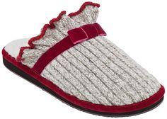 Acorn Ragg Time Ruffle Slipper (Grey Ragg Wool)