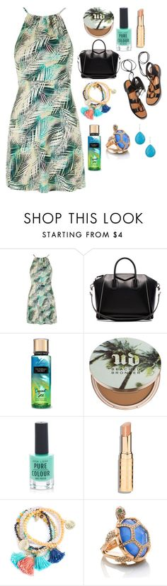 """""""x"""" by jdee10 ❤ liked on Polyvore featuring Topshop, Rosetta Getty, Givenchy, Urban Decay, New Look, Kate Spade and Saachi"""