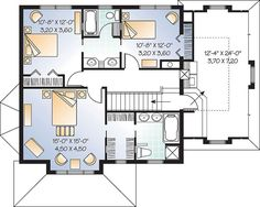 Victorian House Plan 65360 Level Two