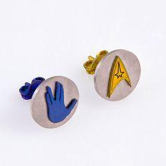 Hey, I found this really awesome Etsy listing at https://www.etsy.com/listing/160902080/star-trek-earringsstar-trek-commandstar