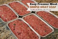 Simple Meat Loaf Might put mozzarella cheese in it which is the way I make my regular meatloaf! Easy Freezer Meal Simple Meat Loaf Meat Loaf Might put mozzarella cheese in it which is the way I make my regular meatloaf! Make Ahead Freezer Meals, Freezer Cooking, Easy Meals, Simple Meals, Freezer Dinner, Bulk Cooking, Budget Cooking, Individual Freezer Meals, Chicken Freezer Meals