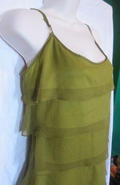 Betsey Johnson Tiered Dress in wonderful Green by BrooklynBoudoir