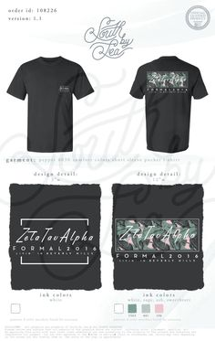 Zeta Tau Alpha | Formal T-Shirt Design | Tropical Theme T-Shirt | South by Sea | Greek Tee Shirts | Greek Tank Tops | Custom Apparel Design | Custom Greek Apparel | Sorority Tee Shirts | Sorority Tanks | Sorority Shirt Designs