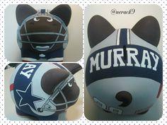 Alcancía pintada a mano. by @nerack9 #Cowboys #Murray #Porky #XL #NFL  Hand painted Ceramic #PorkyBank Personalized #PorkyXL #HechoEnMexico