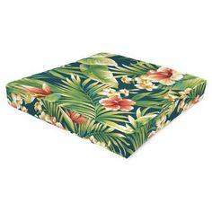 Jordan Manufacturing Fiji 24 in. Boxed Outdoor Cypress Chair Cushion Cypress Lagoon - HN230PK1-4421D
