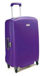 Swiss Case 28″ BLACK/PURPLE 4 Wheel Hard Suitcase   FREE Carry-on ...