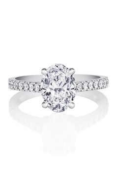 DE BEERS   Style No: CLASSIC PAVE SOLITAIRE RING