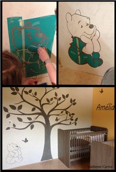 My daughters idea: use the cricut for room decoration. Picture : 1/3 Vanheste Carine  # DIY, Wall Decoration, Wall art, Winnie The Pooh, Disney, Baby room, Kids' room, Nursery
