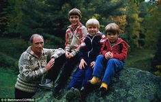 Dynasty: Pierre Trudeau with his sons Justin, Alexander (also known as Sacha), and Michel ...