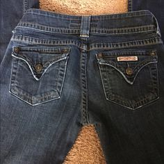 "Hudson boot cut jeans EUC. No signs of wear other than what's shown. Length 33"". Hudson Jeans Jeans Boot Cut"