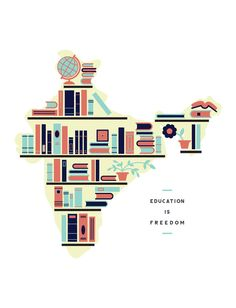 These bookshelves outline the Republic of India, visualizing the education that you are helping fund with the purchase of this design. Books can give you a key into another world. The gift of reading and learning should be something that everyone can enjoy. Education is freedom!