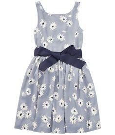 6993195c3 Polo Ralph Lauren Kids Floral Fit Flare Dress (Little Kids) Girl's Dress  Blue/