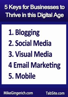 5 Keys for Businesses to Thrive in this Digital Age