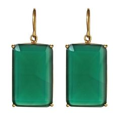 Gotas de talla esmeralda en Green Onyx