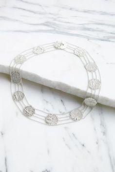 HannahK Lace Collar in Silver (Oroboro Store)