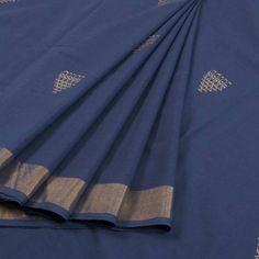 Handwoven Coarse Cotton Saree With Saraswati Motifs, Zari Border & Without Blouse 10023383 - AVISHYA.COM