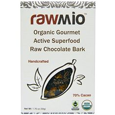 Rawmio Organic Gourmet Active Superfood Raw Chocolate Bark 176 oz 50 g  2pc *** Be sure to check out this awesome product-affiliate link.