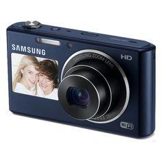 Dual-View Smart Camera with Built-in Wi-Fi (Cobalt Black) EC-DV150FBPBUS   Samsung Digital Cameras