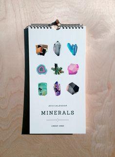 2013 Minerals Calendar. $24.00, via Etsy.