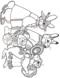 Easter Parade Coloring Page