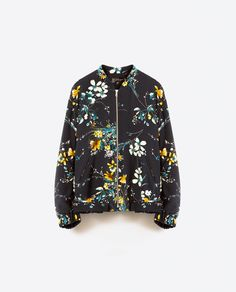 Image 8 of QUILTED FLORAL BOMBER JACKET from Zara