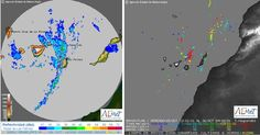 Fuertes lluvia y tormenta eléctrica madrugada 26 octubre, Canarias