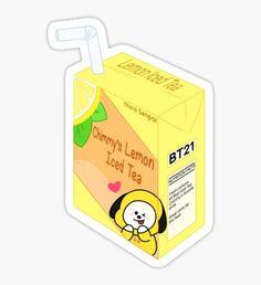 'Mang Sprite Sticker by ChocoSenpai Pop Stickers, Tumblr Stickers, Kawaii Stickers, Printable Stickers, Bts Drawings, Kawaii Drawings, Line Friends, Bts Chibi, Bts Fans