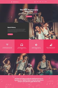 Music Band Responsive Moto CMS 3 Template #64974