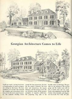 Vintage House Plans, Georgian  DESIGN A 2192