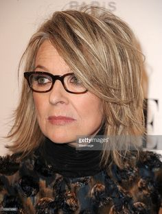 medium hairstyles over 50 - Diane Keaton layered bob hairstyle ...