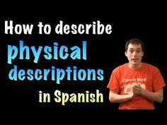 Señor Jordan explains descripciones físicas with a quiz at the end - 6 minutes