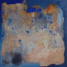 """Alvaro Pérez """"Habitat Mixta"""" Acrílico y mixta sobre lienzo  100 x 100 cm"""