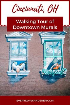 Cincinnati Ohio is home to more than 175 murals making the Cincinnati murals a popular walking tour. See the Cincinnati Art during your Cincinnati Vacation | Cincinnati Ohio things to do | Cincinnati Tours | Cincinnati Things to Do In | Cincinnati Trip | Cincinnati Travel | Cincinnati Travel Guide | Cincinnati Vacation with Kids | Street Art | Street Art Mural | Cincinnati Street Art | #cincinnati #ohio #mwtravel #US #USA #USTravel Us Road Trip, Family Road Trips, Cool Places To Visit, Places To Travel, Travel Destinations, Ohio Weekend Getaways, Travel With Kids, Family Travel, Cincinnati Art