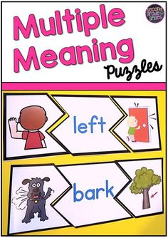 Meaning Words Puzzles My grade students love these multiple meaning word puzzles! Such a fun literacy center activity!My grade students love these multiple meaning word puzzles! Such a fun literacy center activity! Teaching First Grade, Teaching Phonics, Teaching Reading, Kindergarten Literacy, Student Teaching, Literacy Centers, Teaching Tools, Teaching Ideas, Word Study