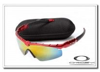 0bbc4f7e1a cheap fake Oakley m frame sunglasses dark red   fire iridium online