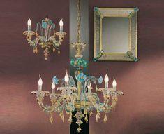 Lampadario Antico Murano : Lampadario in vetro soffiato di murano asta arredi e dipinti